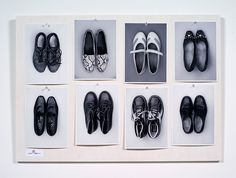Hans-Peter Feldmann, Ursula + Hans-Peter. 8 Black and white photographs pinned on white washed board. 19.75 x 27.5 inches.
