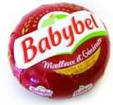Babybel - Babybel is a brand of cheese sold internationally by The Bel Group since 1952. The company introduced Mini Babybel in 1977 and today nearly 75% of Mini Babybel is consumed outside of France. This cheese is the French version of the Dutch Edam cheese. This semi-hard cheese is made up from pasteurized cow milk.