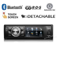 Special Offers - XTRONS Single 1 DIN In Dash Car Stereo Detachable Face Panel Radio RDS 3 Touch Screen USB SD Slot Bluetooth - In stock & Free Shipping. You can save more money! Check It (August 28 2016 at 05:12PM) >> http://caraudiosysusa.net/xtrons-single-1-din-in-dash-car-stereo-detachable-face-panel-radio-rds-3-touch-screen-usb-sd-slot-bluetooth/