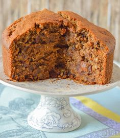 Walnut and Dates Cake Date Bread, Date Cake, Vegan Cake, Banana Bread, Cooking, Sweet, Dates, Desserts, Foods