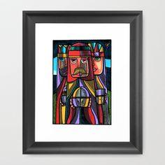 TRES REYES MAGOS 2012 Framed Art Print by Miguel Angel Sanjurjo - $36.00