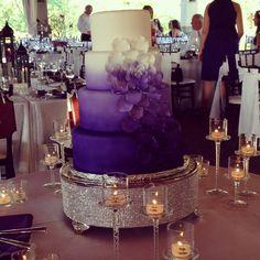 #ombre wedding cake #purple