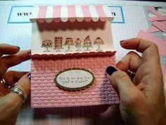 This is from a paris birthday party with over 400 pins on it.....click this pin and then click on  Mary's link at the bottom to go to her boards...Awning Card Tutorial with Diana Gibbs