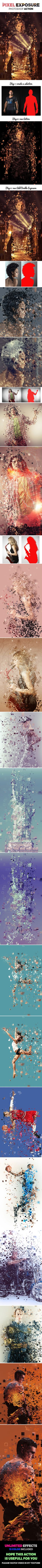 Pixel Exposure Photo Effect Photoshop Action. Download here: http://graphicriver.net/item/pixel-exposure/16009214?ref=ksioks