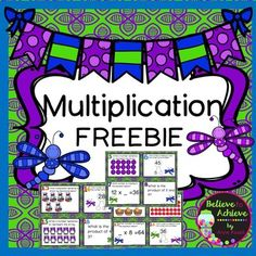 Multiplication Task Cards (24 task cards)To celebrate 600 followers on TPT,  I've created this set of task cards as a BIG thank you for your support! Enjoy!This is a colorful set of 24 task cards to practice multiplication skills. This set is a wonderful addition to your lessons!