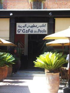 Le Grand Café de la Poste à Marrakech.