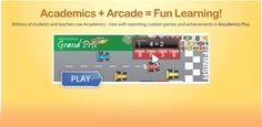A wonderful site for learning through the use of multi-player games.  Also, there is an educational portal which allows for student tracking.