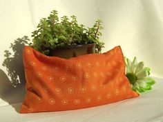 Handmade Herbal Heat and Cold Therapy Pack. Made with 100% Organic brown flax seeds for comfort and heat/cold retention, herbal blend and fabric pattern of your choice. Handmade by me! :)