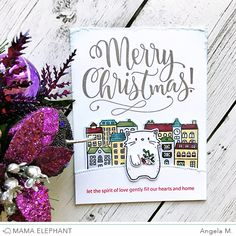 Today we are excited to introduce another beautiful hand lettering set by Paola with Merry Christmas Wishes! This is a great addit...