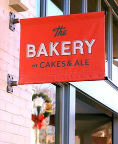 Green Olive Media // Cakes & Ale • The Bakery at Cakes & Ale Green banner sign type typography graphic design logo