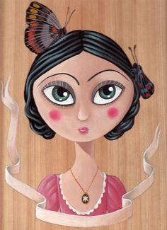 Miss Butterfly - acrilic on wood - 2011