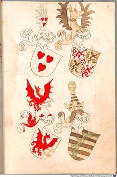 Bruderschaftsbuch des jülich-bergischen Hubertusordens Niederrhein, um 1500 Cod.icon. 318  Folio 9r