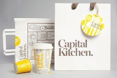 Capital Kitchen is a homewares and food concept store in Australia's largest shopping centre called Chadstone. It has a unique blend of rustic imagery and up-market ambiance. The corporate identity, created by Cornwell, uses bold and nostalgic images to resemble the good old times.