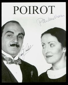 David Suchet as Poirot and Pauline Moran as Miss Lemon in the Poirot series. I don't adore any of the characters in this show, but the formal plotting and mystery solving is very good. Hercule Poirot, Agatha Christie's Poirot, Miss Marple, Best Mysteries, Murder Mysteries, Pauline Moran, David Suchet, Midsomer Murders, Fiction