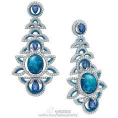 1 Paire élégant bleu cristal Strass Ear Drop Dangle Stud Long Boucles D/'oreilles 188