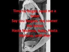 ABBA - Hasta Mañana lyrics