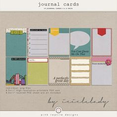 Quality DigiScrap Freebies: Hurry! Journal Cards freebie from Pink Reptile Designs