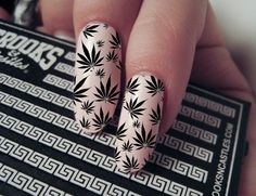 Nail Decals  Marijuana Pot Leaf Pattern Waterslide by facciaXO, $5.00 I want these!