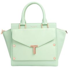 Ted Baker Burally Leather Tote With Clutch Handbag Online At Johnlewis Handbags