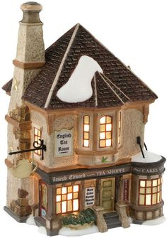 Department 56 Dickens' Village Joseph Edward Tea Shoppe Collectible Figurine - Holiday Lane - For The Home - Macy's Christmas Village Display, Christmas Village Houses, Christmas Villages, Christmas Home, Lemax Christmas, Halloween Village, Department 56, Villas, Dept 56 Dickens Village