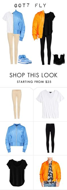 """""""Got7 Fly inspired"""" by got7outfits ❤ liked on Polyvore featuring 7 For All Mankind, Topshop, Frame Denim, Cosabella, Polo Ralph Lauren and Dr. Martens"""