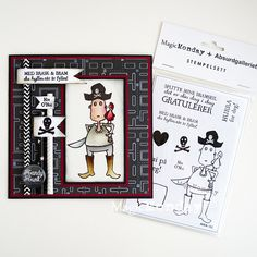 AnMa - Blog - Stamps from MagicMonday, card created by Tone.  Stempel / Stamps: http://www.anma.no