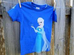 Disney Frozen Elsa Shirt  Elsa Tulle Tshirt  by snowypalmscrafts, $24.00