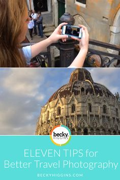 GREAT photography tips for when you're traveling/vacationing. Video showing how to take better photos to document your vacations using ANY kind of camera.