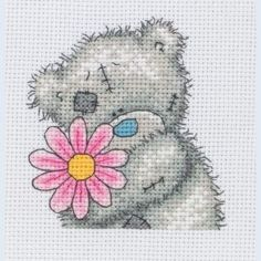 A Little Flower - Me To You - Tatty Teddy - counted cross stitch kit Coats Crafts