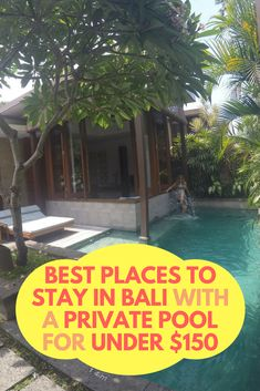 Looking for affordable villas in Bali? Bali offers so many affordable accommodation choices, that it's hard to figure out the best places to stay. The great news is that you can stay in a luxurious villa with a private pool for less than $150 per night, which is quite hard to find anywhere else in the world. Not only are the villas themselves beautiful, but the views and services they offer are surely impressive for the prices you pay. #luxuryvilla