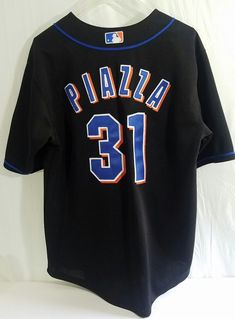 c777e5d3c6c NY Mets Rawlings Authentic Sewn Stitched Mike Piazza 31 Youth Jersey Kids  14 16