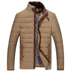 Mens Stand Collar Winter Warm Down Jacket Coat Outdoor Overcoat