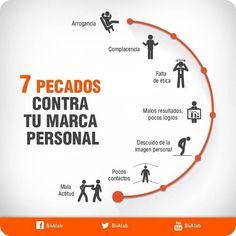 7 pecados contra tu Marca Personal #infografia #infographic #marketing | TICs y Formación