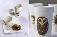 Aves Collection: Owl Beaker