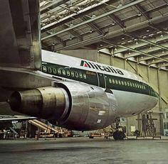 Alitalia McDonnell-Douglas DC-10-30 in the maintenance hangar