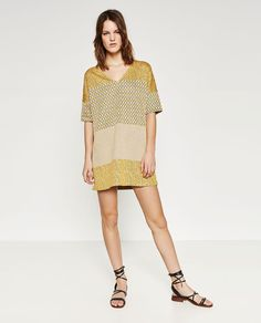 Image 1 of TRICOLOUR JACQUARD DRESS from Zara