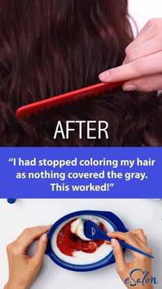 Ditch the generic drugstore box and try this new DIY hair color: It was the exact hair color I was looking for but could not find. That in between color that you just can't get from store bought colors.The first and only of its kind, our customized h Diy Hair Dye, Dyed Hair, Diy Haarfärbemittel, Hair Colour Design, Diy Hair Colour, Curly Hair Styles, Natural Hair Styles, At Home Hair Color, Tips Belleza