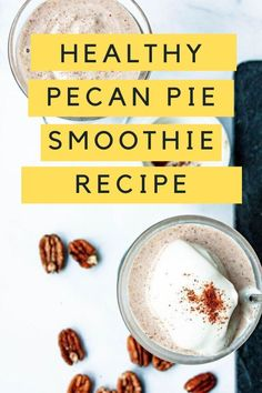 Delicious pecan pie smoothie can be enjoyed any time of day AND guilt-free. Enjoy the nutty, rich flavors only pecans can provide paired with a hint of pure maple syrup, enriched with flax meal, and spiced with the classic fall favorite...ground cinnamon. As with pie, pure vanilla extract rounds out the sweetness and makes this feel like the holidays making this the best dessert ever you can enjoy for breakfast or snack. Chocolate Covered Pretzels Recipe, Hot Chocolate Cookies, Breakfast Bites, Easy Healthy Breakfast, Holiday Desserts, Fun Desserts, Turkey Stroganoff, Homemade Cold Remedies, Cookie Dough Frosting