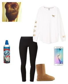 """""""Chill -Mari"""" by mindless-loyalty ❤ liked on Polyvore featuring Helmut Lang, Victoria's Secret PINK, UGG Australia, Samsung, women's clothing, women's fashion, women, female, woman and misses"""