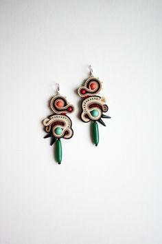 Gem Games / soutache earrings / facebook.com/agtesasutasz