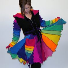 Reserved  Blacklight  M/L/XL  Flutterby Pixie by greenoakcreations, $279.00