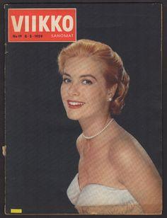 1959 FINNISH VINTAGE VIIKKOSANOMAT MAGAZINE #19 GRACE KELLY ON COVER FINLAND | eBay