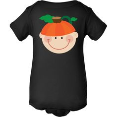 Halloween Baby holiday pumpkin Infant Creeper gift for baby's 1st Halloween celebration. $16.99 www.virtuosodesigner.com #Halloween #1stHalloween #babys1st