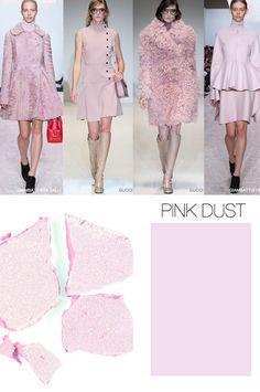 F / W 2015-16, listo para usar color, polvo de color rosa de las mujeres