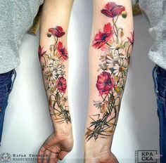 Marya Tyurpeko flower tattoo # Floral tattoo What's Art ? Cover Up Tattoos, Leg Tattoos, Body Art Tattoos, Cool Tattoos, Tatoos, Flower Tattoo Designs, Tattoo Designs For Women, Tattoos For Women, Tattoo Ideas Flower