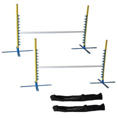 Cool Runners Set of 2, 4FT Wide Dog Agility Jumps with Carrying Case *** New and awesome dog product awaits you, Read it now  : Dog Training and Behavior Aids