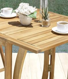 Hanie Design SG120 Sunset Garden Series Alley Folding Outdoor Bistro Set | 3-Piece Real Wood >>> (paid link) Read more at the image link.