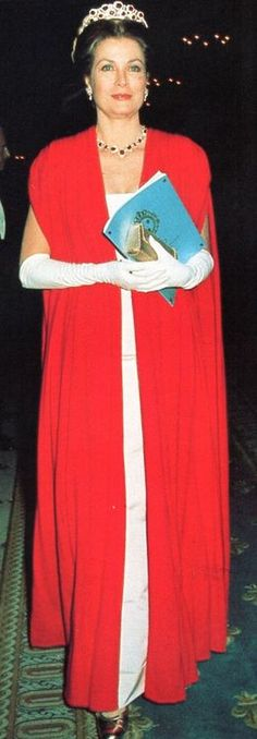 Princess Grace at Gala for the restoration of the Castle of Versailles on November 28, 1973 in Versailles, France.