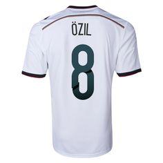 Germany 2014 OZIL Home Soccer Jersey