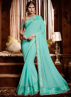 Buy Suave Patch Border Work Satin Classic Designer Saree, Online#sarees #royal #designersarees #ethnic #glamour #sareelove #sareesonline #womensarees #indianwear